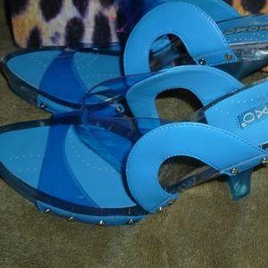 NIB XOXO Sandals Leather/synthetic upper 7.5B